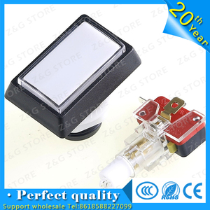 1 pcs of rectangle 51mm*34mm lighted button Illuminated Push Button with microswitch for arcade game machine