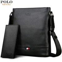 VICUNA POLO классическая мужская однотонная сумка-мессенджер с задним карманом мужская сумка пляжная сумка черная повседневная мужская сумка ч...