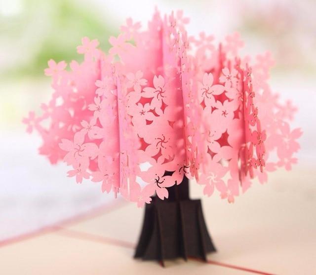 10pcs 3d pink sakura flower handmade kirigami origami wedding party 10pcs 3d pink sakura flower handmade kirigami origami wedding party invitation cards greeding birthday card postcard mightylinksfo