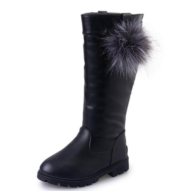9483964f26a1aa SKHEK Winter Kinderschuhe Prinzessin Martin Stiefel Mädchen Plüsch Stiefel  Kinder Warme Mode Pu-leder Stiefel