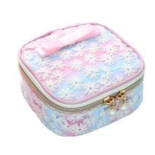 Women Girl Cute Embroidery Sanitary Pad Organizer Holder Napkin Towel Convenience Bags