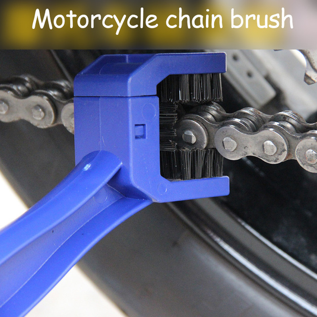 Universal Motorcycle Bike Chain Maintenance Cleaning Brush For YAMAHA R6 2004 2005 2006 KAWASAKI Z1000 Z800 Z750