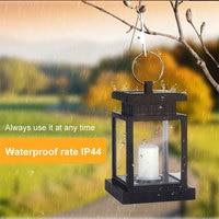 LED Candle Solar Powered Garden light Waterproof LED Solar String Fairy Lights for Garden Pathway Fence Gutter Light