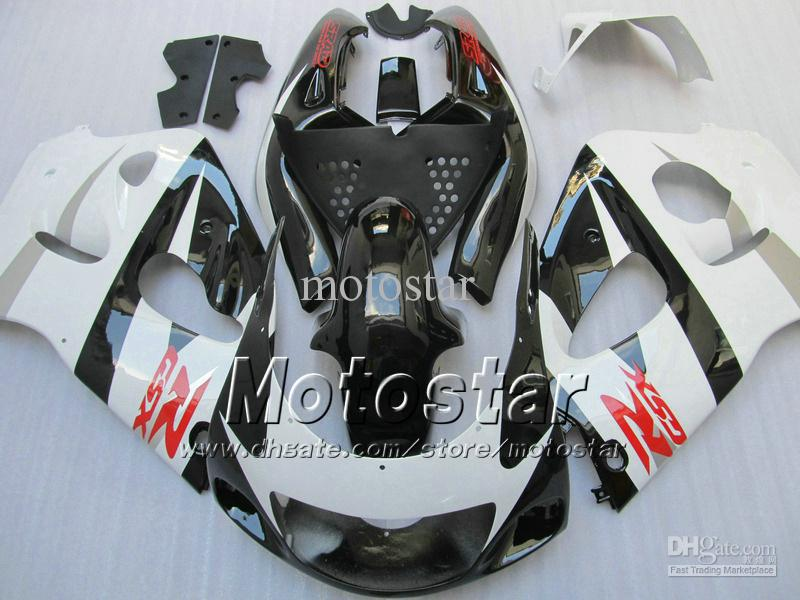 Black white fairing kit FOR SUZUKI GSXR600 SRAD GSXR750 1996 - 2000 SRAD fairings GSXR 600 750 96 97 98 99 00 GSX-R600 custom fa