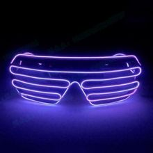 Led-Glasses El-Wire Costume Light-Up Shutter Christmas-Gifts Fashionable-Decoration Party