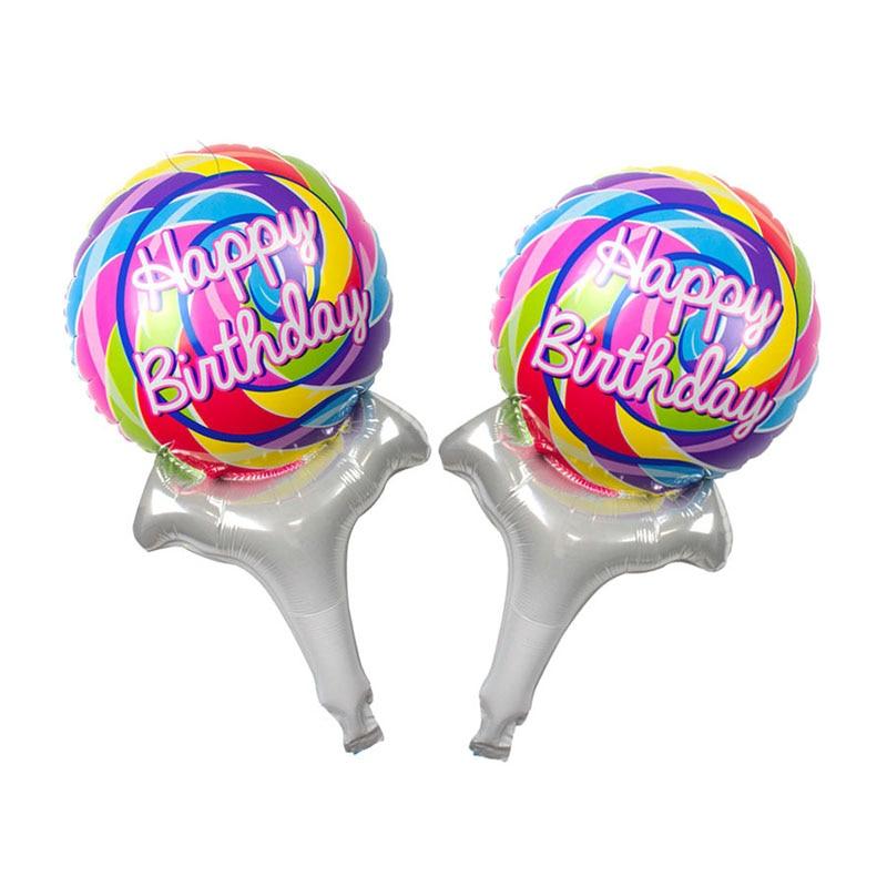 New arrival Mini Rainbow lollipop Foil balloons Wedding bar party activities dec