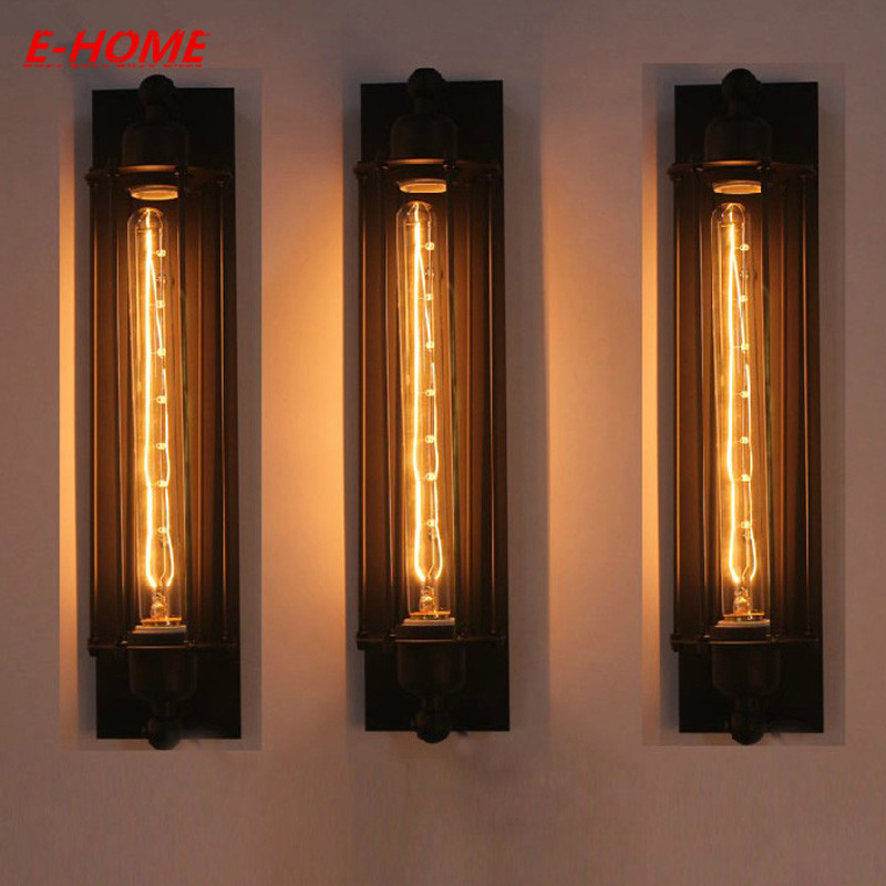 American Industrial Loft Vintage Wall Lamps  Edison Wall  Light 40W E27 Bedside Wall Fixtures Home Decoration Lighting loft american vintage wall lamps industrial indoor lighting bedside lamps wall lights for home decoration 220v 240v e27 bulb