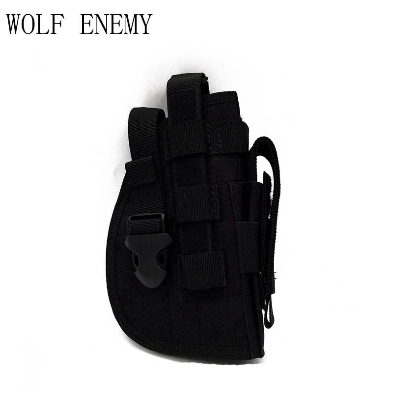 Tactical Gun <font><b>Holster</b></font> <font><b>Molle</b></font> Modular Pistol <font><b>Holster</b></font> for Right Handed Shooters <font><b>1911</b></font> 45 92 96 Glock Quick Release Rifle Pouch image