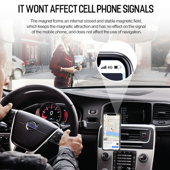 Metal Magnetic Car Phone Holder for iPhone Samsung Xiaomi 360 Air Magnet Stand in Car GPS 2