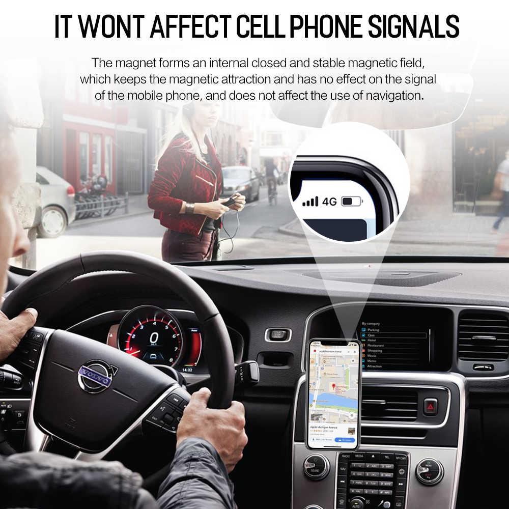 Rock металлический магнитный автомобильный держатель для телефона для iPhone samsung Xiaomi 360 Air Магнитный стенд в автомобиль gps