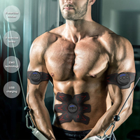 Fitness Rechargable Abdominal Smart EMS Press Stimulator Muscle Trainer Gym Equipment Abdominal Abs Fit Muscles Exerciser