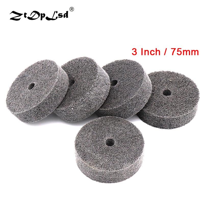 ZtDpLsd 1Pcs 3 Inch 75mm Wheel Buffing Felt Fiber Polishing Pad Abrasive Disc Round Polish Buffer Wood Metal Durable Drill Grind