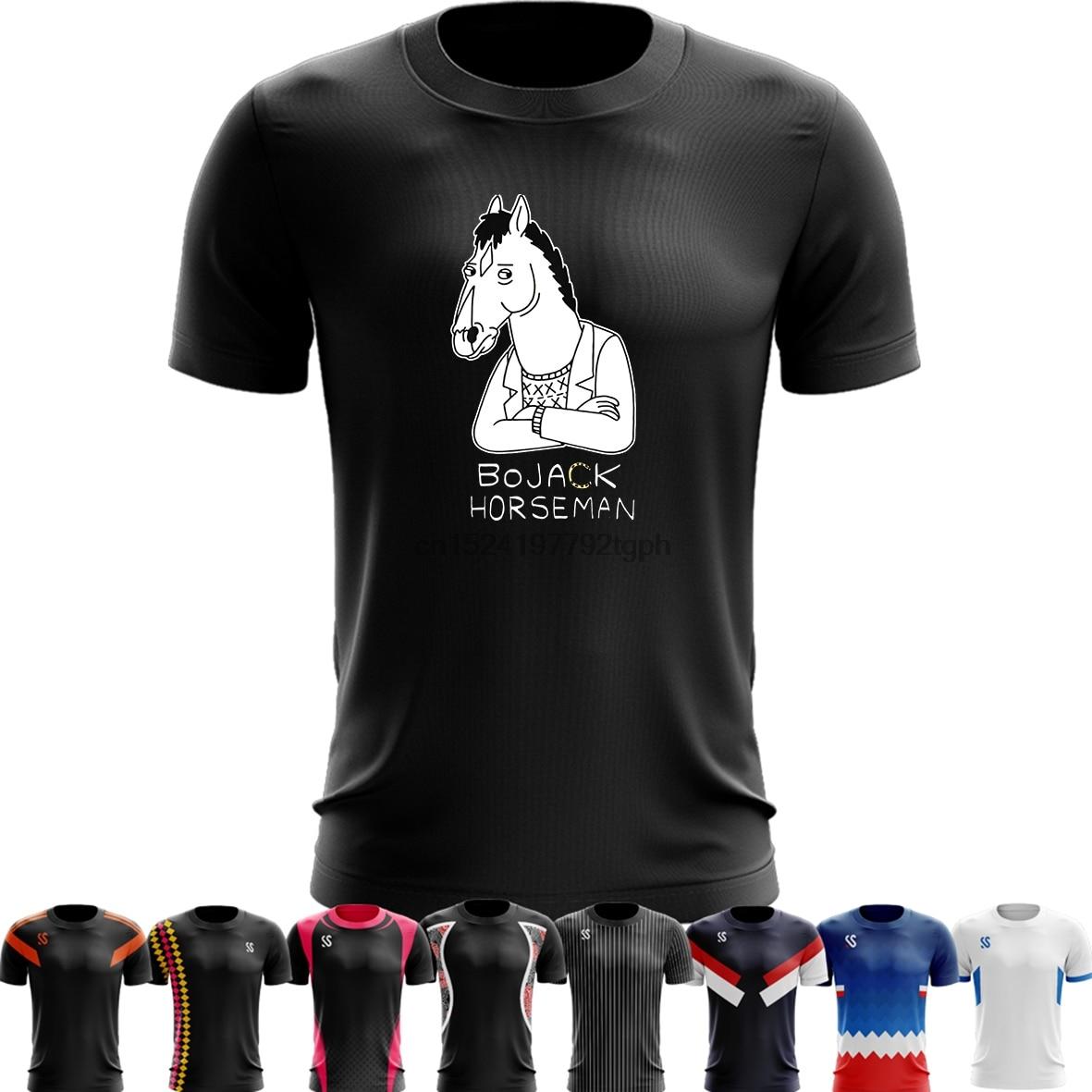 Sport Quick Dry Running Shirts Training T Shirt Men's Cartoon Bojack Horseman Punk Rock Funny S Casual Dress Printed Tops