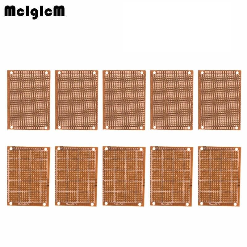 MCIGICM 200Pcs new Prototype Paper Copper PCB Universal Experiment Matrix Circuit Board 5x7cm Brand