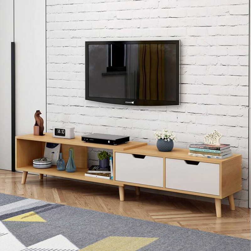 Modern Wood Coffee Table mesa Adjustable Rectangle Living Room Furniture Bedside Table Nordic Style table basse de salon