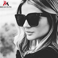 Meguste grey lens Square frame Sunglasses Women Brand Designer Oversized cl Sunglasses uv400.