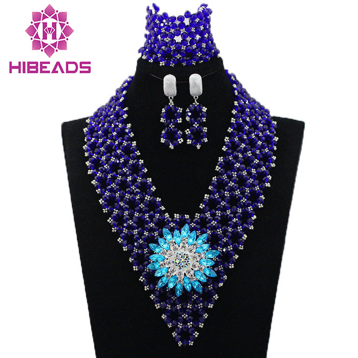 2017 LatestRoyal Blue African Crystal Beads Jewelry Set Nigerian Fashion Jewelry Sets Party Jewelry Gift Set Free Shpping HX8562017 LatestRoyal Blue African Crystal Beads Jewelry Set Nigerian Fashion Jewelry Sets Party Jewelry Gift Set Free Shpping HX856