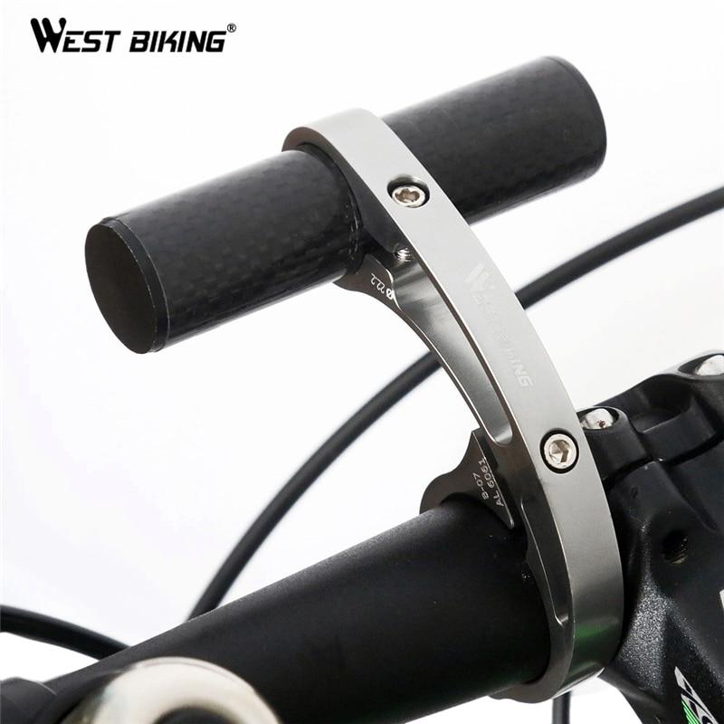 West Biking Bike Handlebar Extender Bicycle Light Bell Computer