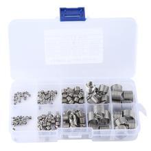 цена на 145Pcs M2-M12 Stainless Steel Wire Screw Sleeve Thread Repair Insert Kit Tool Set screw thread repair ferreteria