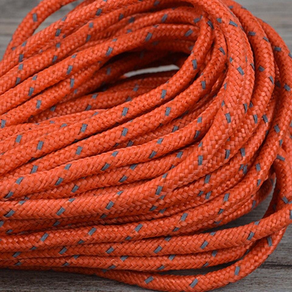 Cuerda reflectante de nailon para tienda de campa/ña para acampada al aire libre cuerda resistente al viento cuerda de tracci/ón fija cuerda de equipaje de viaje toldo para clavos