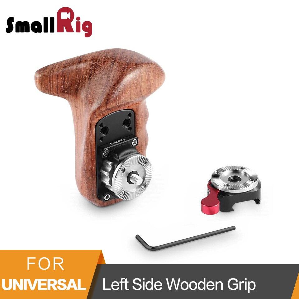 SmallRig Left Wooden Hand Grip +NATO Clamp With Arri Rosette Camera Handle Grip Adjustable Quick Release Wooden Handle   - 2118