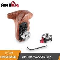 SmallRig Left Wooden Hand Grip +NATO Clamp with Arri Rosette Camera Handle Grip Adjustable Quick Release Wooden Handle 2118