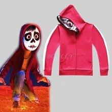 2c4510c8e 2018 niños rojos chaqueta Pixar película Coco niños ropa dibujos animados  sudaderas abrigo sudadera verano niños
