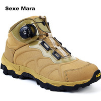 Hot Men Sneakers Leather ESDY Outdoor Running Quick Reaction Shoes BOA Lacing System Boots A Warrior