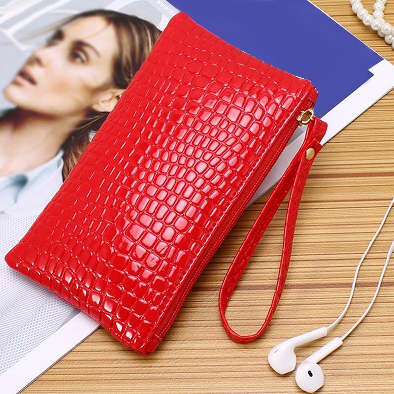 Women PU Leather Wallet Purse Card Phone Holder Makeup Bag Clutch Handbag LBY2018