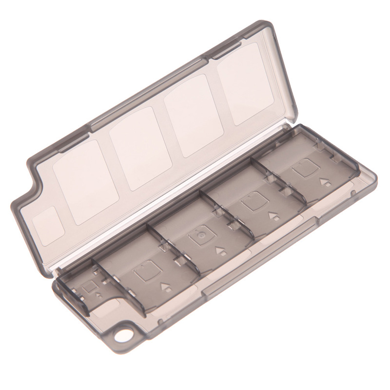 Black 10 In1 Game Memory Card Holder Storage Case Box For Sony PS Vita Game Player To Collect Or Store Game Cards