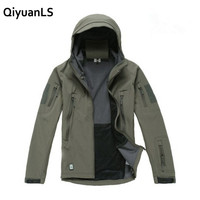 QiyuanLS Lurker Shark Skin Soft Shell Man Jacket V4 0 Military Tactical Jacket Waterproof Windproof Camouflage