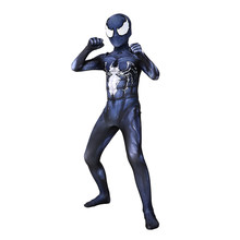 Kids Marvel Superheld Venom Symbiont Spiderman Zentai Huid Strakke Pakken Jongens Carnaval Fancy Dress Halloween Cosplay Party Kostuum(China)