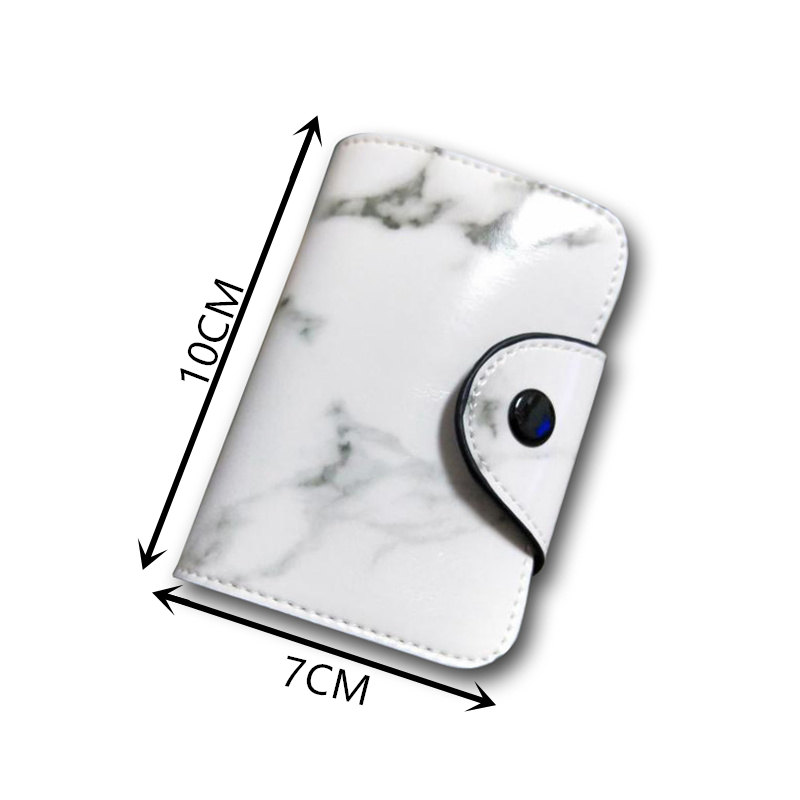 marble 12 Bits credit card holder 2019 korean fashion print coin wallets casual minimalist hsap bank women men new porte carte