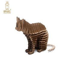 Halloween Cat 3d Puzzle Cute Kitty Decoration Model Paper Craft Toys DIY Cardboard Animal Papercraft Art Games Children Gifts