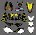 0006 Star New Style TEAM GRAPHICS & BACKGROUNDS DECALS Stickers FOR  DRZ400 DRZ 400 2000-2012