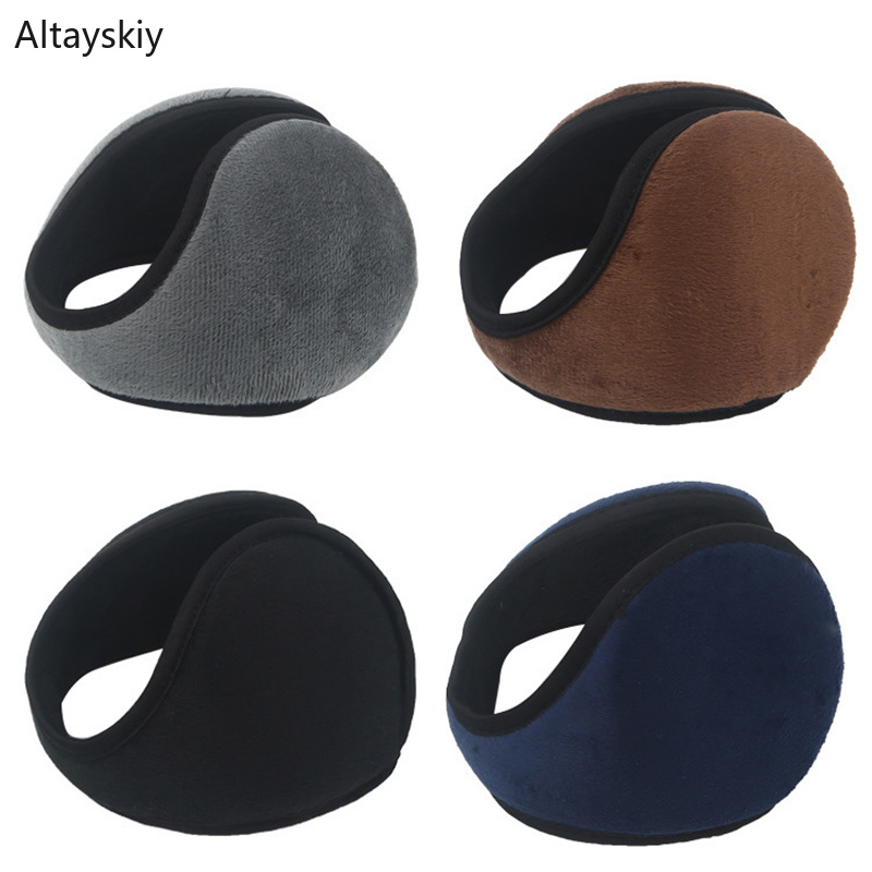 Earmuffs Women Winter Classic Rear Wear Antifreeze Cotton Plush Womens Ear Warmer High Elasticity Trendy Solid Simple Earmuff
