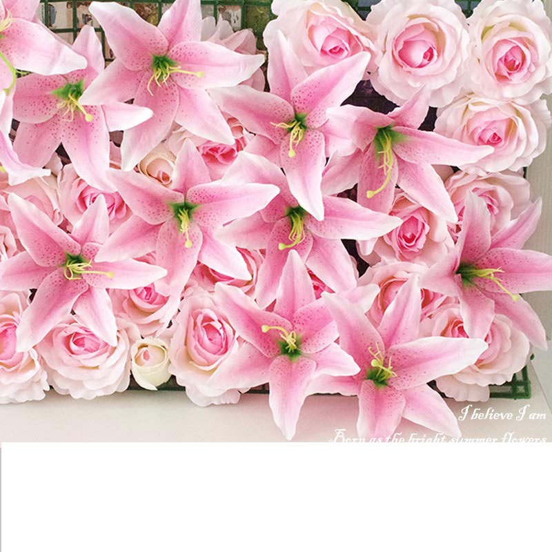 Large Silk Lily Artificial Flower Head For Wedding Car Decoration