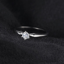 Classic 0.25ct Wedding Solitaire Ring For Women Pure 925 Sterling Silver Simple Wedding Jewelry Fashion Gift