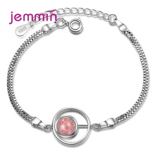 Top Quality Luxury Women 925 Sterling Silver Star Chain Bracelets Jewelry Girls Gift Strawberry Crystal Charms Pulseira
