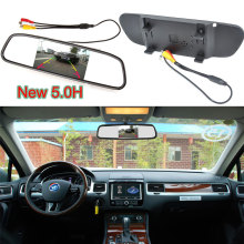 Car Auto Reverse Parking Rearview Mirror 5.0″ Color Digital LCD Display Monitor For Car Parking System Rearview  Backup Camera