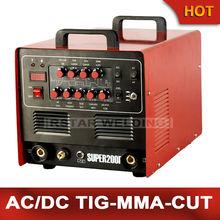 Super200p Многофункциональный 4в1 Ac/dc Tig Mma плазменный резак, сварочный аппарат