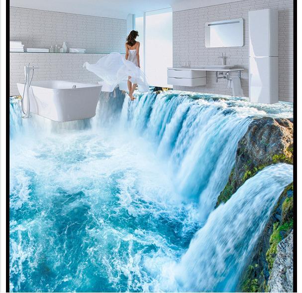 Kundenspezifische 3d Fototapete Die Wasserfall Wohnzimmer Kuche 3d