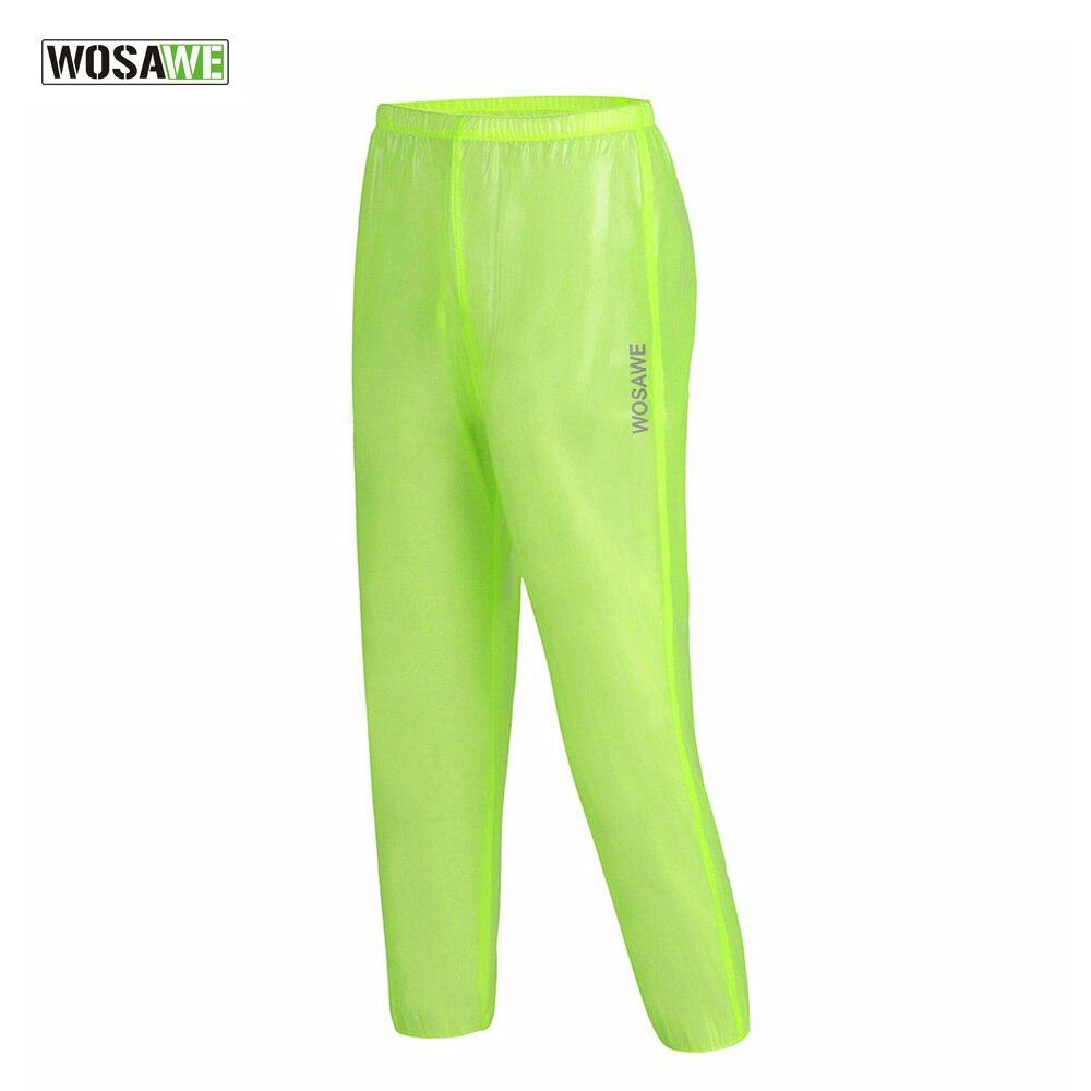 WOSAWE MTB Bicycle Bike Rain Pants Windproof Breathable Windshield Cycling Outdoor Riding Rain Trousers Hiking Fishing Running