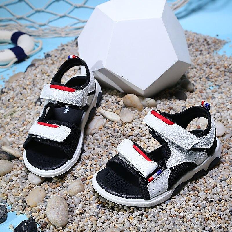 2018 dzieci letnie nowe buty dziecięce skórzane sandały cuhk - Obuwie dziecięce - Zdjęcie 4