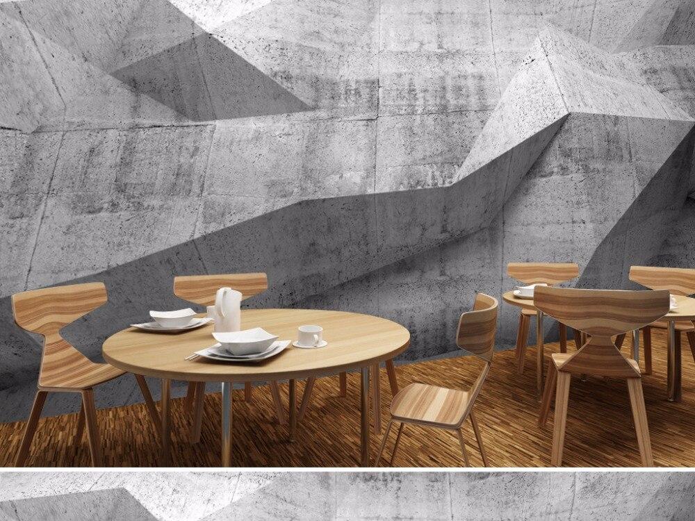 custom modern wallpaper, concrete wall murals for bar ktv hotel