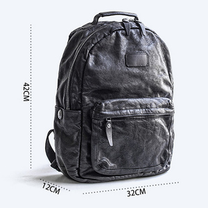 Image 5 - AETOO Fashion Street trend leather shoulder Baotou layer cowhide male backpack