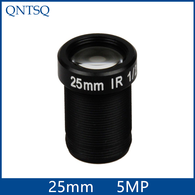 "5 Megapixel cctv camera lens 25mm  Fixed   Iris lens, 1/2""  M12x0.5 Mount Fixed for Security Camera, MTV-25MM(5MP)"