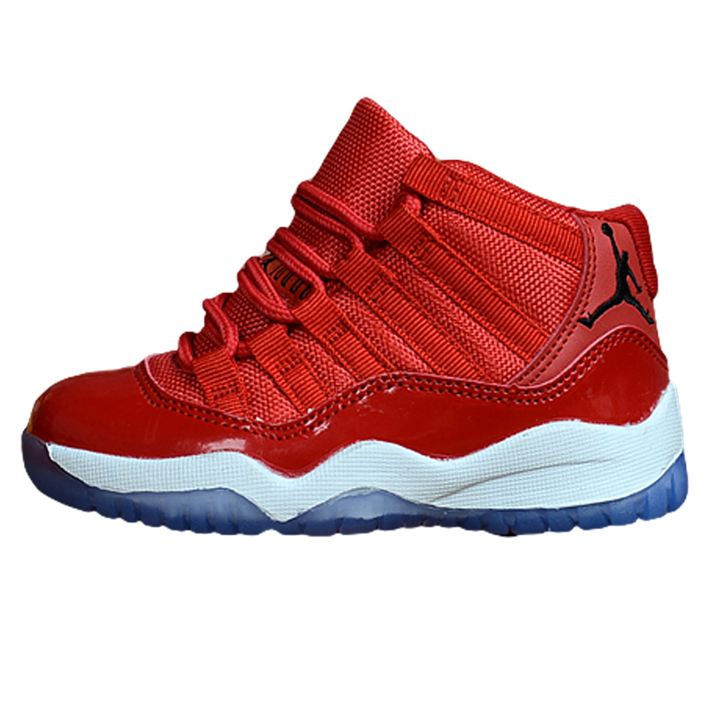 sports shoes 749f0 da9d3 US $36.95 38% OFF|Bred XI 11 Kids Sport Shoes Gym Red Infant AIR US JORDAN  Children Gamma Blue Baby Girl Sneakers Space Jam Hot Sale-in Athletic Shoes  ...