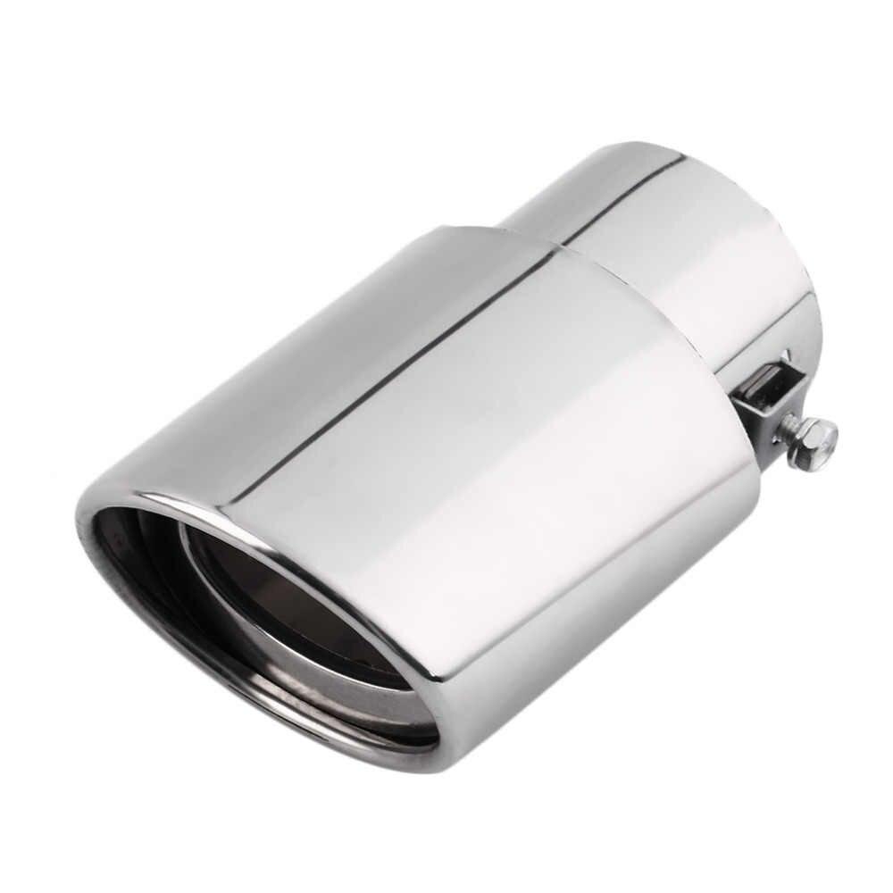 ユニバーサル車の排気マフラーヒントステンレステールパイプ鋼管クロームトリム修正された車のテール喉ライナーパイプ排気システムホットホット