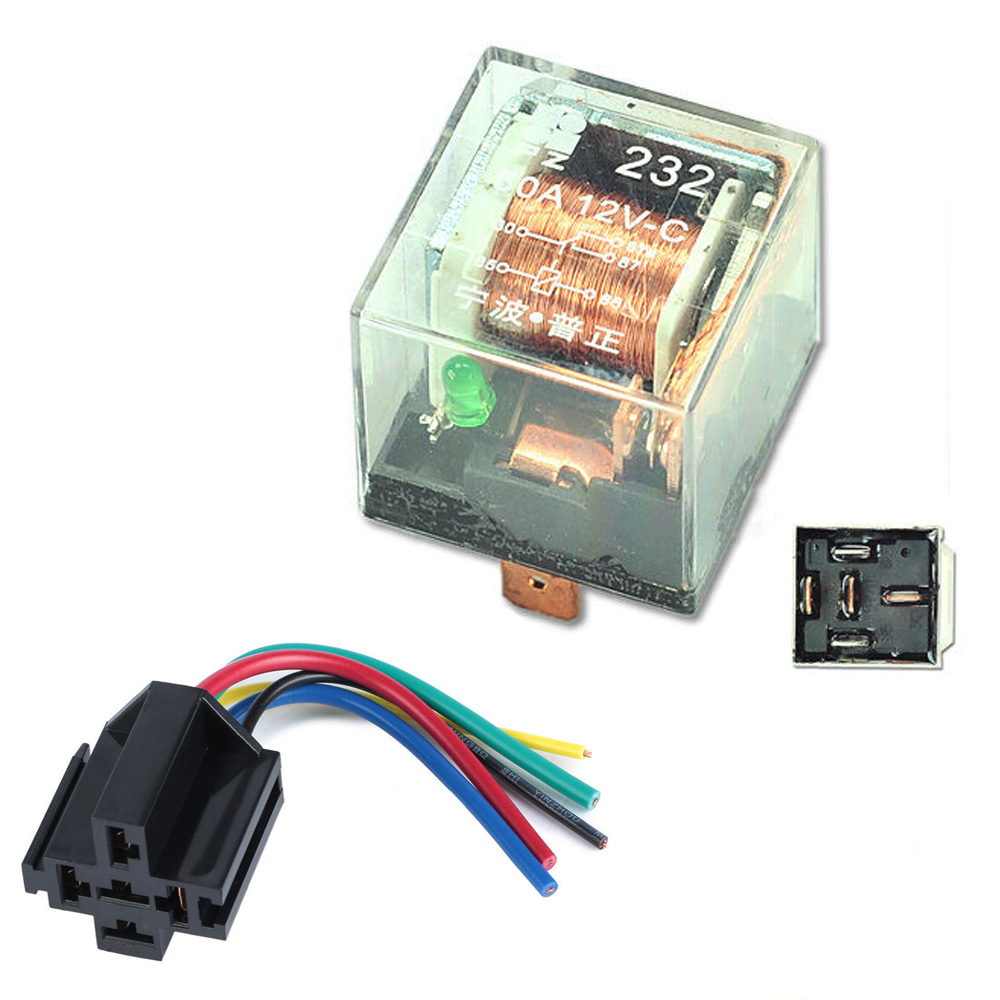 Pin Motorcycle Headlight Dpdt Picturesque Relay Spdt Socket Harness Car A Amp Transparent Shell Auto Automotive Relays Waterproof Prong Wire
